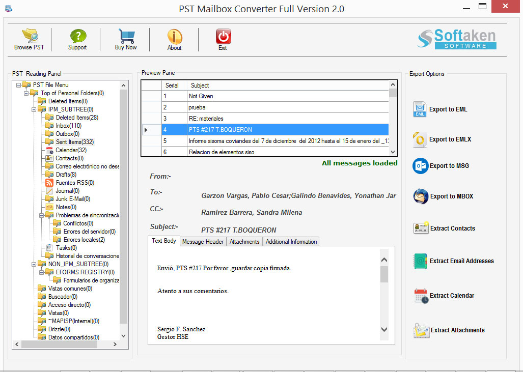 MS Outlook Converter Tool